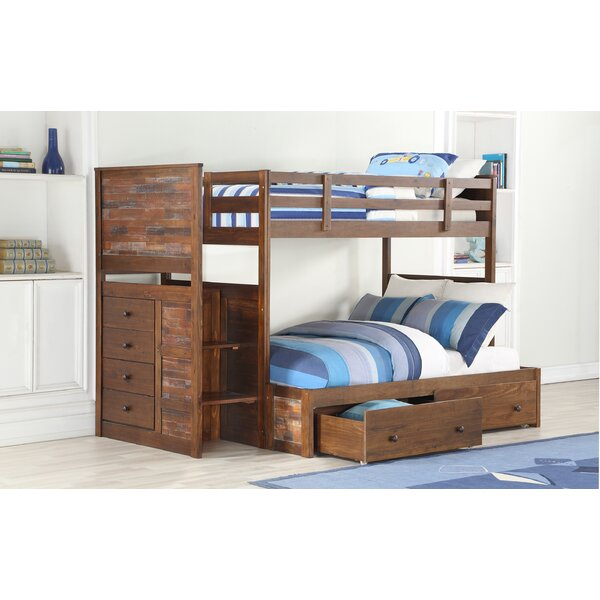 Featherston Stairway Twin over Full Bunk Bed with Drawers by Harriet Bee