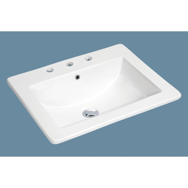 Top Mount Vitreous Chi Overflona Rectangular Drop-In Bathroom Sink by Soleil