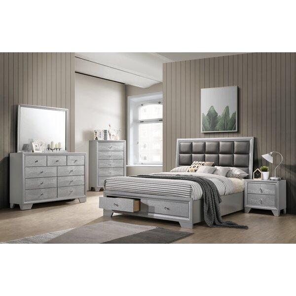 Doucet Queen Platform 6 Piece Bedroom Set by Mercer41