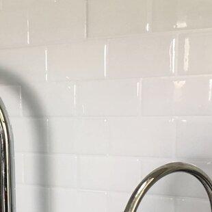 """12"""" x 12"""" PVC Peel & Stick Subway Tile in White"""