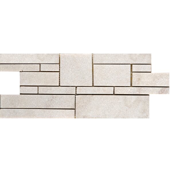 Natural Stone Random Sized  6.75'' x 17.5''  Mosaic Tile in White by Emser Tile