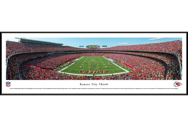 NFL Kansas City Chiefs - End Zone by James Blakeway Framed Photographic Print by Blakeway Worldwide Panoramas, Inc