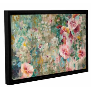 Flower Shower Crop Framed Painting Print by Bungalow Rose