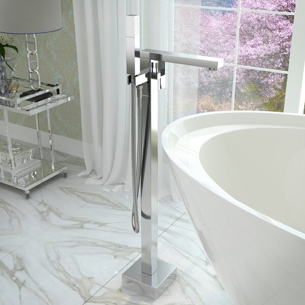 Dawn Double Handle Floor Mounted Claw Foot Bathtub Faucet with Hand Shower by ANZZI
