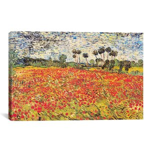'Field of Poppies' by Vincent van Gogh Print by East Urban Home