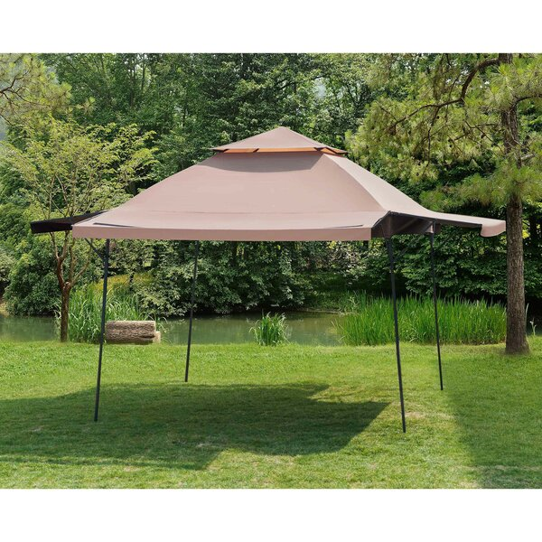 Double Roof 15.5 Ft. W x 15.5 Ft. D Steel Pop-Up Party Tent by Sunjoy