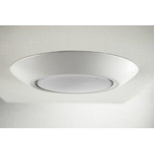 Reviews Klinger 1-Light LED Flush Mount By Zipcode Design