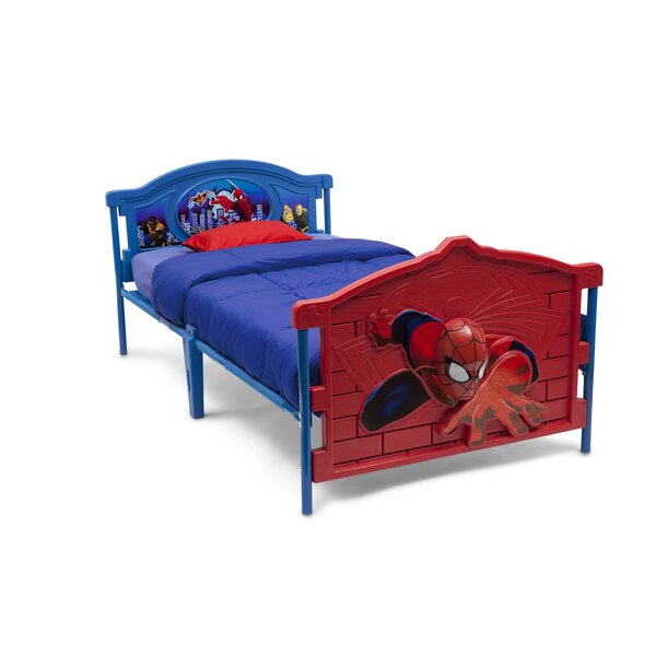 Marvel Spider-Man 3-D Twin Convertible Toddler Bed by Delta Children