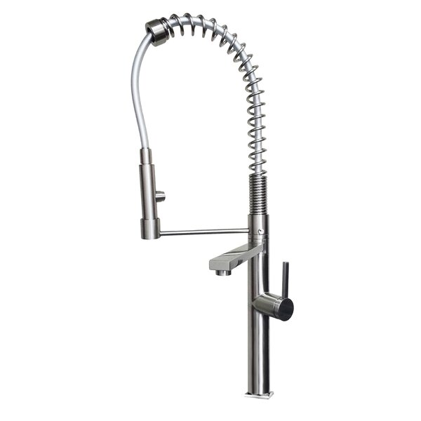 Pull Down Single Handle Kitchen Faucet by Ancona