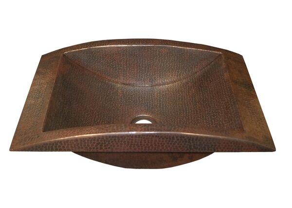 Eclipse Metal Rectangular Drop-In Bathroom Sink by Native Trails, Inc.
