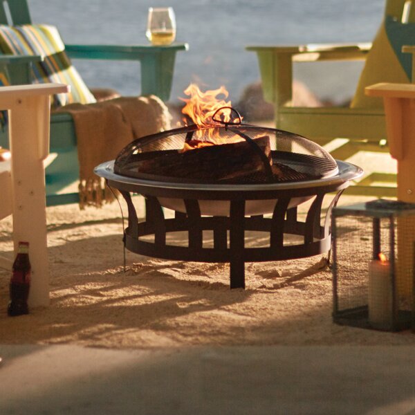 Whitman Steel Wood Burning Fire Pit by Charlton Home