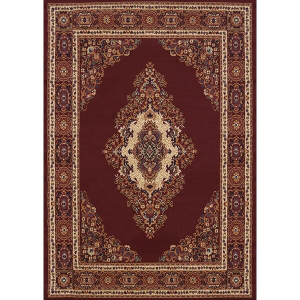 Argenta Burgundy Area Rug by Astoria Grand