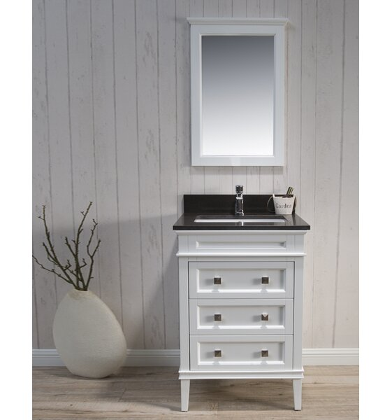 Briese 25 Single Bathroom Vanity Set with Mirror by Wrought Studio