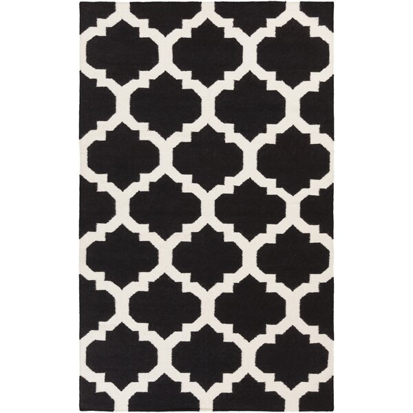 Bangor Black Geometric Area Rug by Ebern Designs
