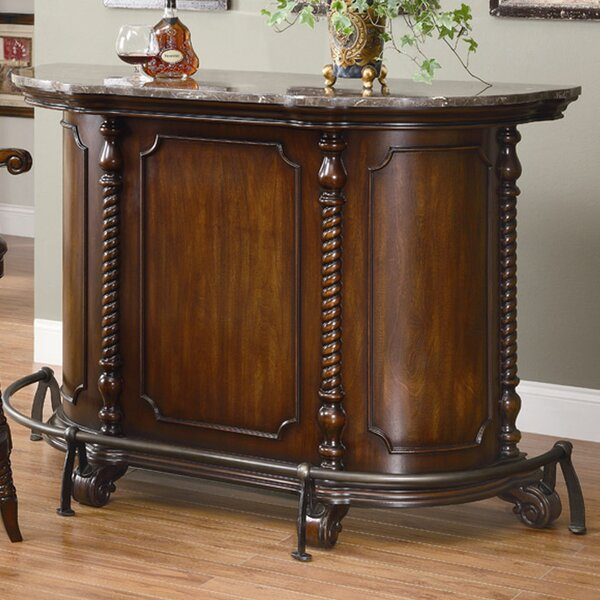 Falco Bar with Wine Storage by Darby Home Co Darby Home Co