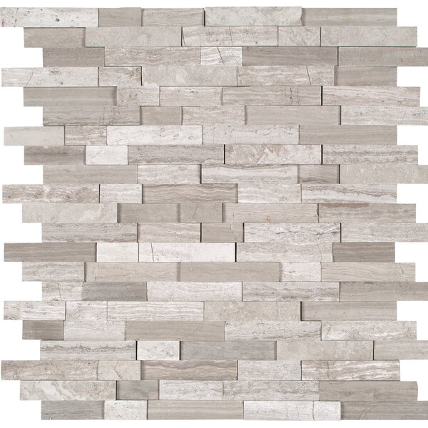 Split Face Marble Mosaic Tile in Gray by MSI