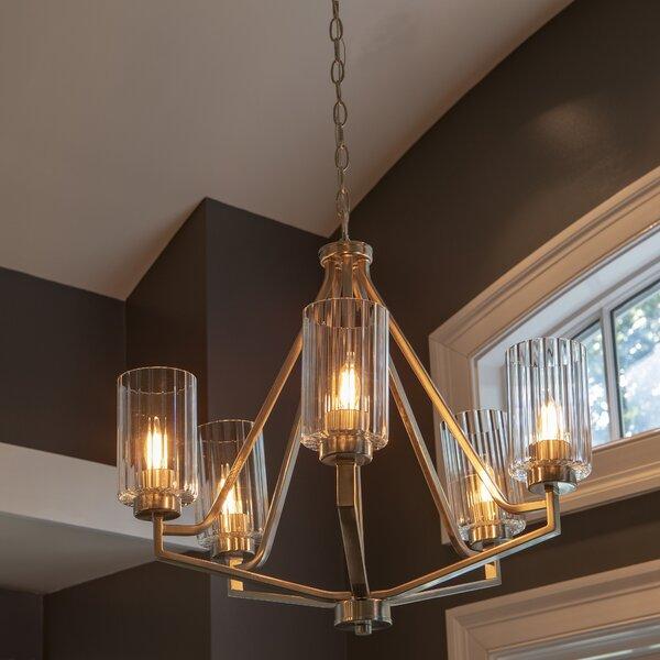 Berens 5-Light Shaded Geometric Chandelier By Ebern Designs