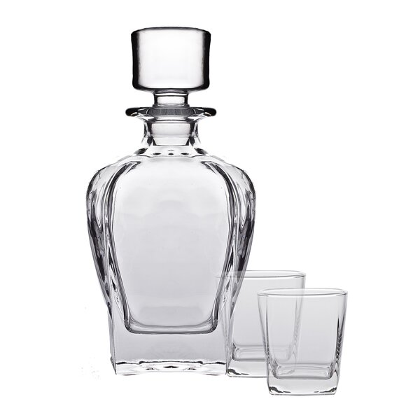 Tandem 3 Piece Decanter Set by Brilliant