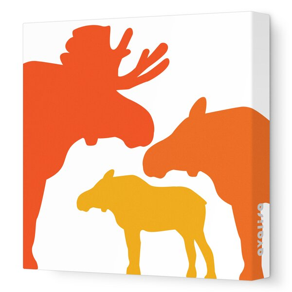 Animals Moose Stretched Canvas Art by Avalisa