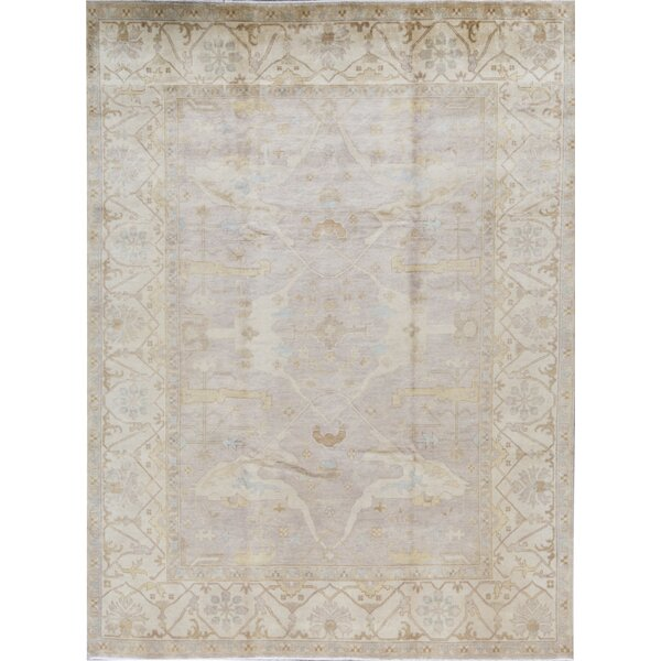 Demirji Oriental Hand-Knotted Wool Camel/Ivory Area Rug