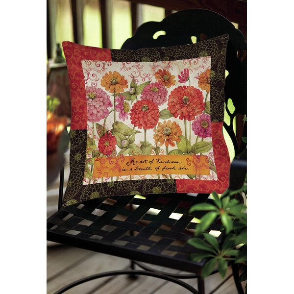 Zinnia Indoor/Outdoor Throw Pillow by Manual Woodworkers & Weavers
