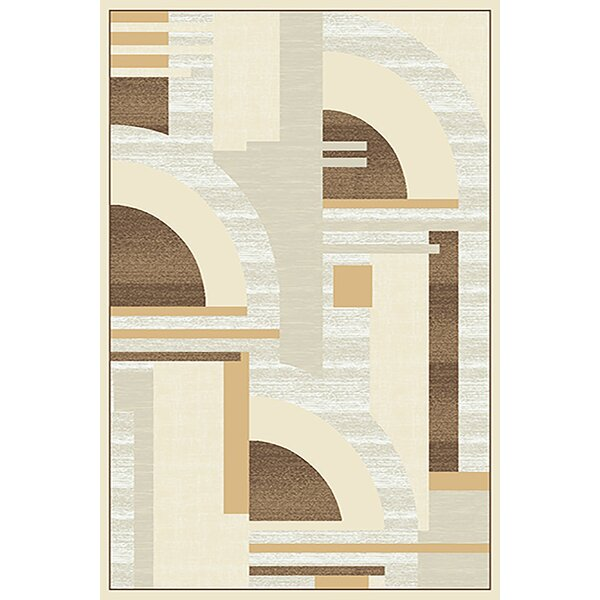 Mccampbell 3D Gray/Yellow Area Rug by Ivy Bronx