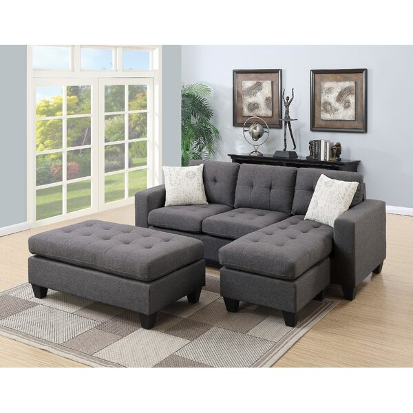 Nola Modular Sectional with Ottoman by Andrew Home Studio