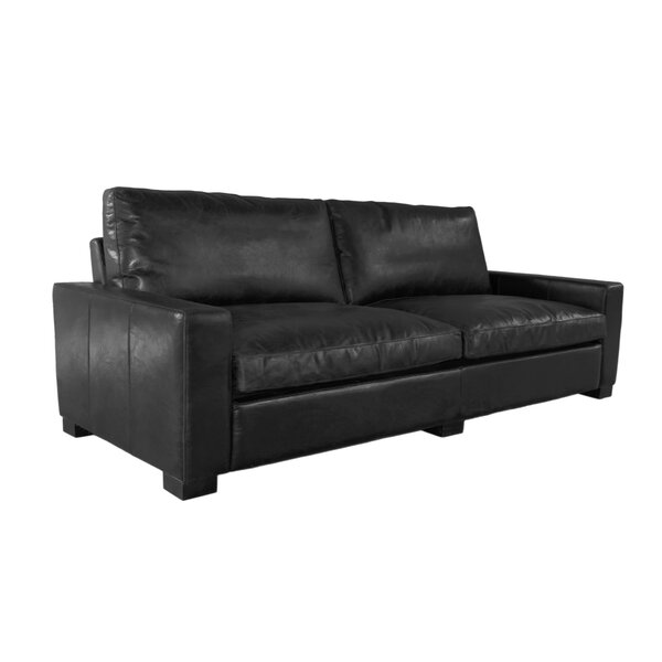 Terrell Genuine Leather Sofa by 17 Stories