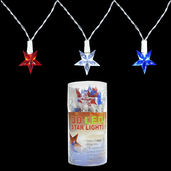 30 Light Patriotic LED Star Set by Penn Distributing