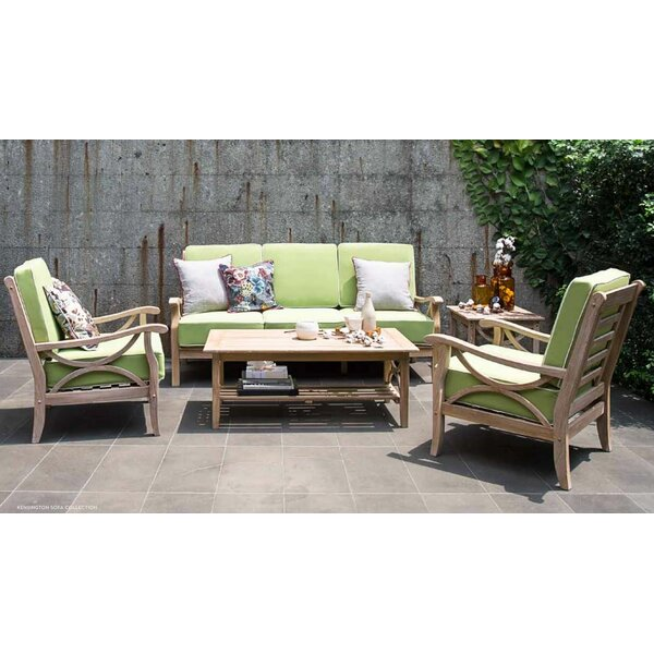 Kensington 5 Piece Teak Sofa Set with Cushions by Cambridge Casual