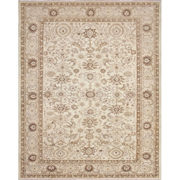 One-of-a-Kind Romona Hand-Knotted Ivory/Brown Area Rug by Isabelline
