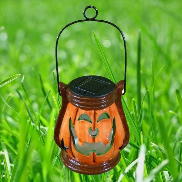 Pumpkin Hanging Ceramic Lantern by BZB Goods