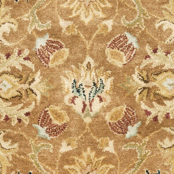 Bergama Hand-Woven Wool Brown/Blue Area Rug by Safavieh