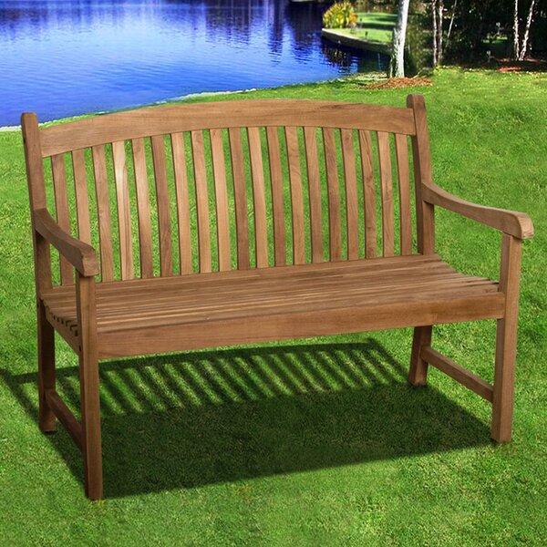 Ira Newcastle Teak Garden Bench by Rosalind Wheeler