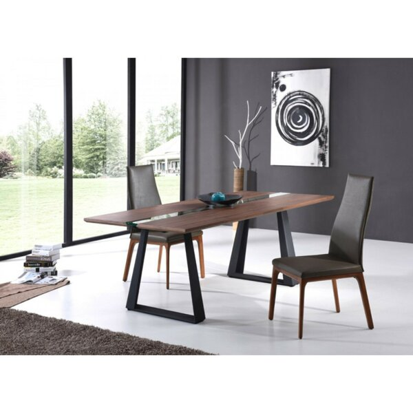 Angelo Solid Wood Dining Table by 17 Stories