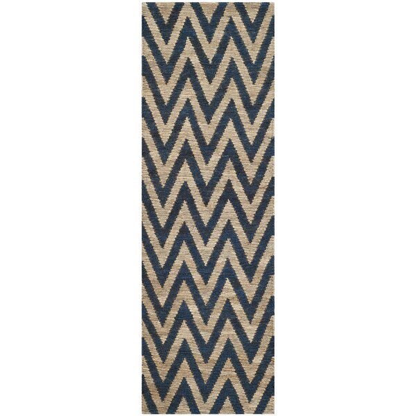 Garman Blue/Natural Original Area Rug by Brayden Studio
