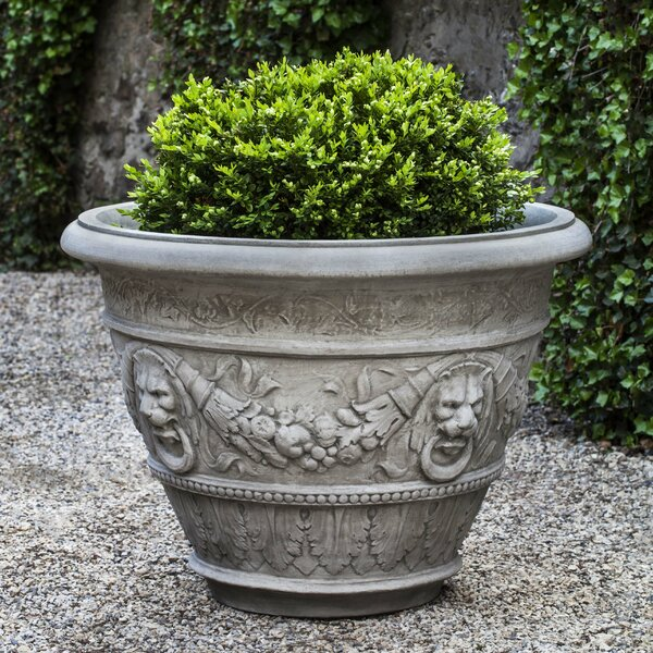 Rosecliff Cast Stone Pot Planter by Campania International