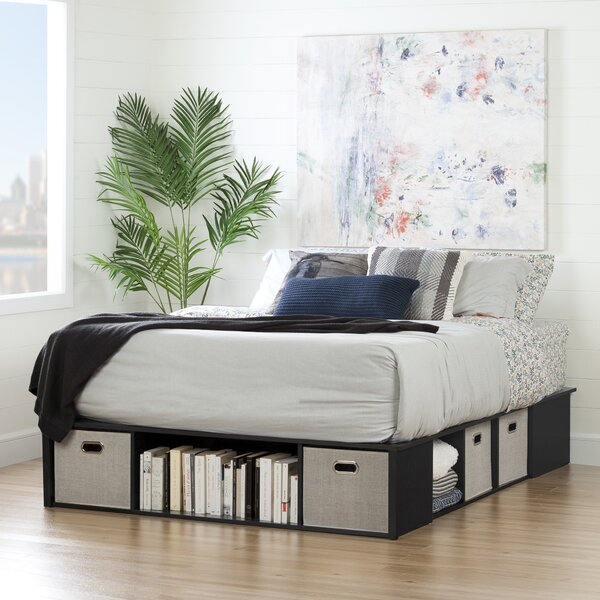 Flexible Storage Platform Bed by South Shore