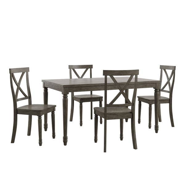 Butte Reclaimed Wood 5 Piece Dining Set by Alcott Hill