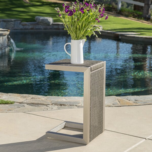 Durbin Aluminum End Table By Wade Logan