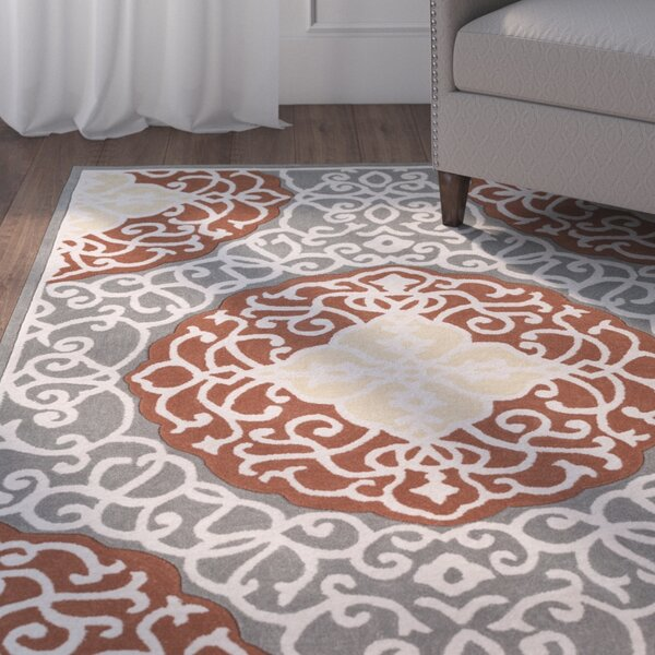 Windsor Hand-Tufted Camel/Gray Area Rug by Charlton Home