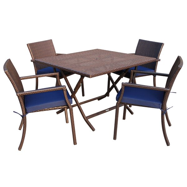 5 Piece Dining Set With Cushion By Jeco Inc.