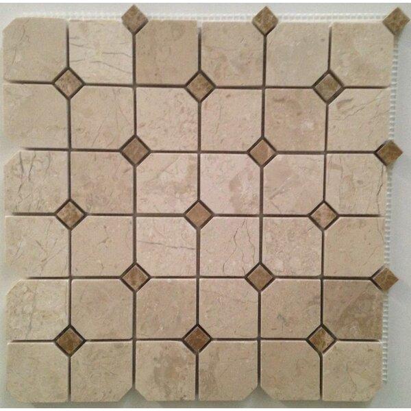 2 x 2 Mosaic Tile in Crema Nouva by Ephesus Stones