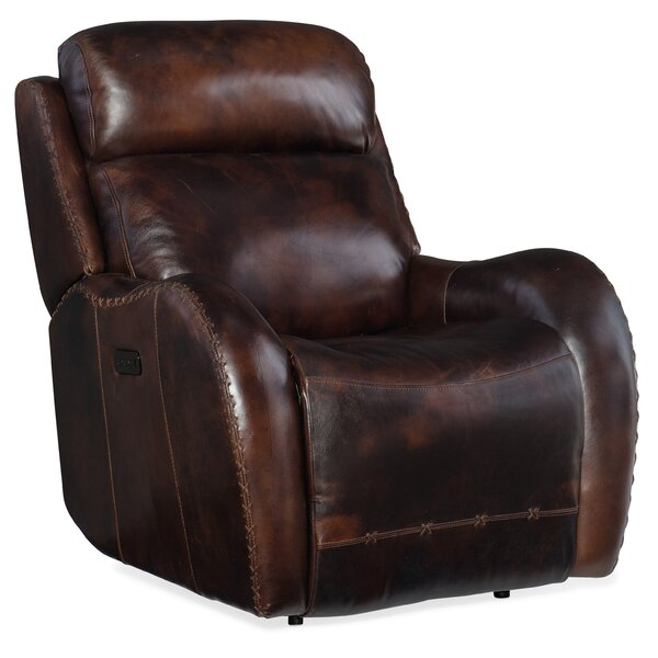 Discount Chambers Leather Power Recliner