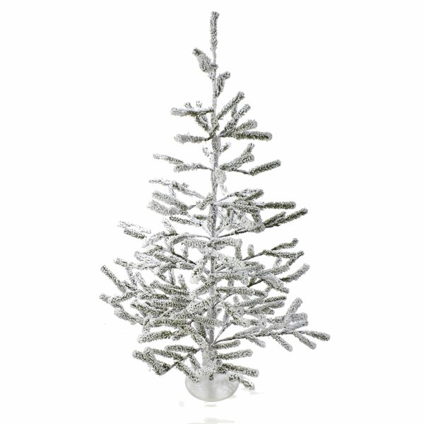36 Flocked Alpine Coral Artificial Chistmas Tree by Kurt Adler