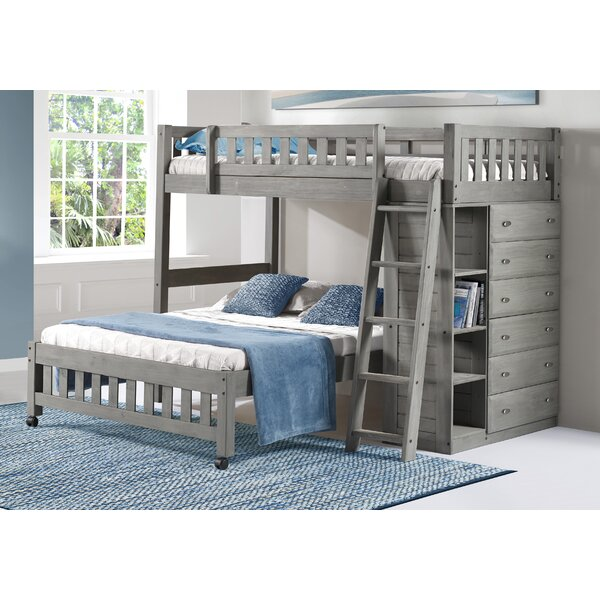 Ignazio Twin Over Full L-Shaped Bunk Bed With Drawers And Shelves By Birch Lane™ Heritage by Birch Lane™ Heritage