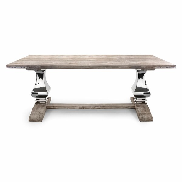 Rodin Solid Wood Dining Table by Bloomsbury Market Bloomsbury Market