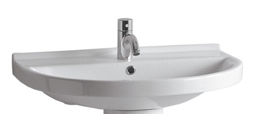 China Ceramic 24 Wall Mount Bathroom Sink with Overflow by Whitehaus Collection