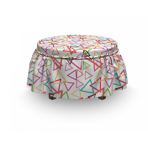 Angular Tribal Motifs Ottoman Slipcover (Set Of 2) By East Urban Home