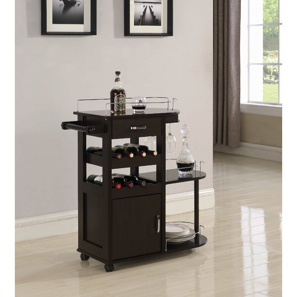 Ellison 3 Tier Serving Bar Cart by Alcott Hill Alcott Hill